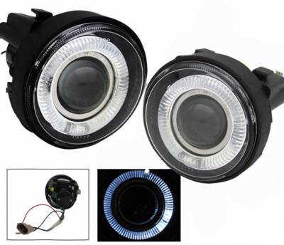 Headlights & Tail Lights - Fog Lights - 4CarOption - Dodge Neon 4CarOption Halo Projector Fog Lights - XT-FGPR-NEON-0305