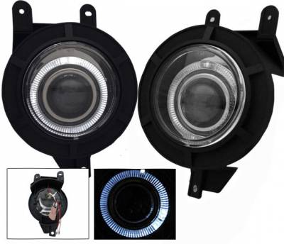 Headlights & Tail Lights - Fog Lights - 4CarOption - Lincoln Blackwood 4CarOption Halo Projector Fog Lights - XT-FGPR-NVGT-9802