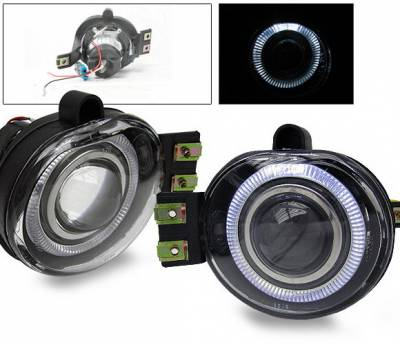 Headlights & Tail Lights - Fog Lights - 4CarOption - Dodge Durango 4CarOption Halo Projector Fog Lights - XT-FGPR-RAM-0204
