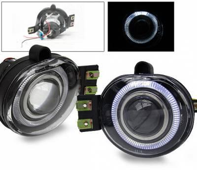 Headlights & Tail Lights - Fog Lights - 4CarOption - Dodge Ram 4CarOption Halo Projector Fog Lights - XT-FGPR-RAM-0204