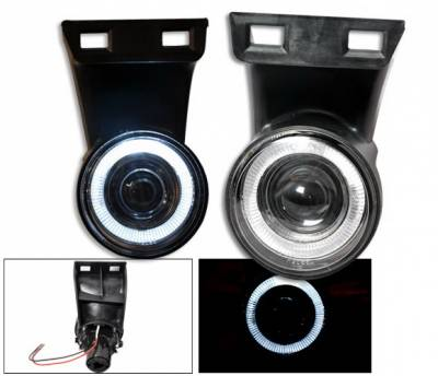 Headlights & Tail Lights - Fog Lights - 4CarOption - Dodge Ram 4CarOption Halo Projector Fog Lights - XT-FGPR-RAM-9902