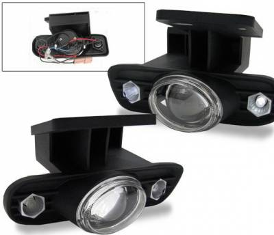 Headlights & Tail Lights - Fog Lights - 4CarOption - GMC Yukon 4CarOption Halo Projector Fog Lights - XT-FGPR-SIRA-9902