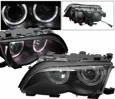 4CarOption - BMW 3 Series 4CarOption Halo Projector Headlights - XT-HLR-E4602054BC-2