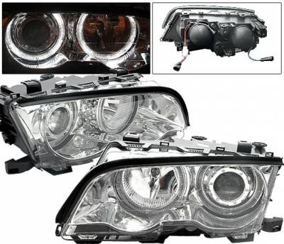 4CarOption - BMW 3 Series 4CarOption Halo Projector Headlights - XT-HLR-E4698012CC-2