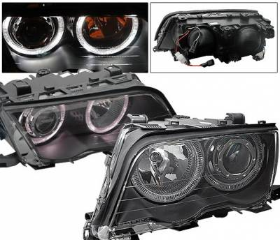 4CarOption - BMW 3 Series 4CarOption Halo Projector Headlights - XT-HLR-E4698014BC-2