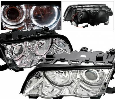4CarOption - BMW 3 Series 4CarOption Halo Projector Headlights - XT-HLR-E4698014CC-2
