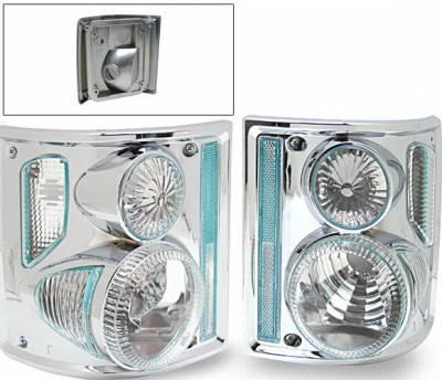 Headlights & Tail Lights - Led Tail Lights - 4CarOption - Chevrolet Blazer 4CarOption Altezza Taillights - XT-TLC-C107387C-6