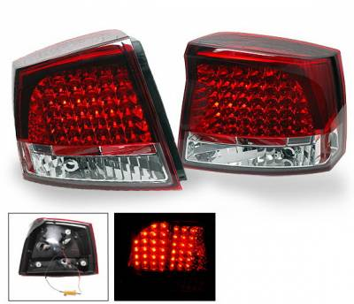 Headlights & Tail Lights - Led Tail Lights - 4CarOption - Dodge Charger 4CarOption LED Taillights - XT-TLD-CHGR0507RC-6