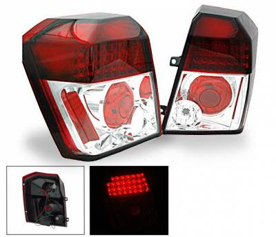 Headlights & Tail Lights - Led Tail Lights - 4CarOption - Dodge Caliber 4CarOption LED Taillights - XT-TLD-CLB0607RC-6