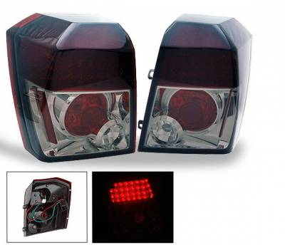 Headlights & Tail Lights - Led Tail Lights - 4CarOption - Dodge Caliber 4CarOption LED Taillights - XT-TLD-CLB0607SM-6