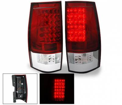 Headlights & Tail Lights - Led Tail Lights - 4CarOption - Chevrolet Tahoe 4CarOption LED Taillights - XT-TLD-DNL0708RC-6