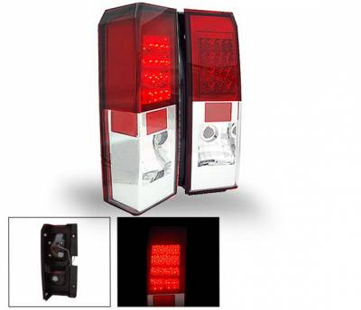Headlights & Tail Lights - LED Tail Lights - 4CarOption - Hummer H3 4CarOption LED Taillights - XT-TLD-H30607RC-6