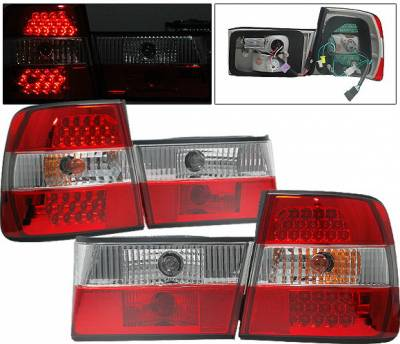 Headlights & Tail Lights - Led Tail Lights - 4CarOption - BMW 5 Series 4CarOption LED Taillights - XT-TLRD-E348895G-2