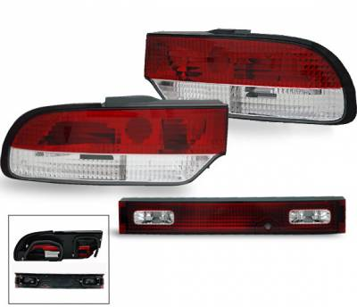 Headlights & Tail Lights - Led Tail Lights - 4CarOption - Nissan 240SX 4CarOption Taillights - XT-TLR-S138993-6