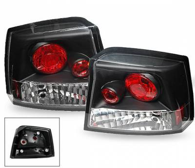 Headlights & Tail Lights - Led Tail Lights - 4CarOption - Dodge Charger 4CarOption Altezza Taillights - XT-TLZ-CHGR0506BK-6