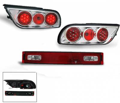 Headlights & Tail Lights - Led Tail Lights - 4CarOption - Nissan 240SX 4CarOption LED Taillights - XT-TLZC-S13LED-6