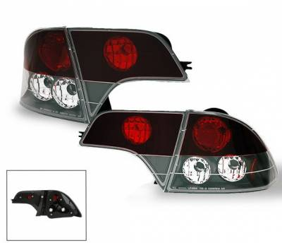Headlights & Tail Lights - Led Tail Lights - 4CarOption - Honda Civic 4DR 4CarOption Altezza Taillights - XT-TLZ-CV06074BK-6