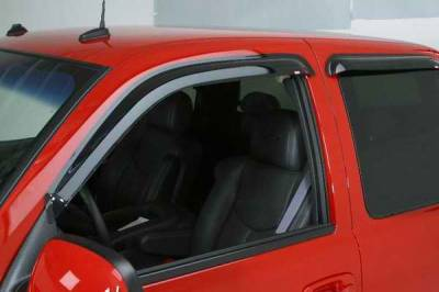 Accessories - Wind Deflectors - Wade - Wade Smoke Slim Wind Deflector 4PC - 37420