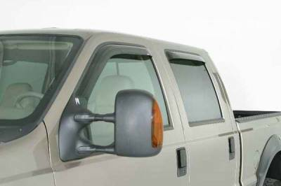 Accessories - Wind Deflectors - Wade - Wade Smoke In-Channel Wind Deflector 4PC - 39493