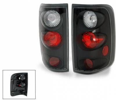 Headlights & Tail Lights - Led Tail Lights - 4CarOption - Ford F150 4CarOption Altezza Taillights - XT-TLZ-F1500304FEBK