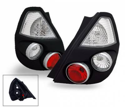 Headlights & Tail Lights - Led Tail Lights - 4CarOption - Honda Fit 4CarOption Altezza Taillights - XT-TLZ-FIT0106BK-6
