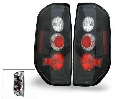 Headlights & Tail Lights - Led Tail Lights - 4CarOption - Nissan Frontier 4CarOption Altezza Taillights - XT-TLZ-FRTR0506BK-6