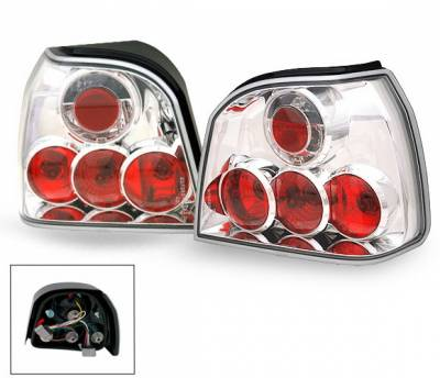 Headlights & Tail Lights - Led Tail Lights - 4CarOption - Volkswagen Golf 4CarOption Altezza Taillights - XT-TLZ-GOLF39297-6