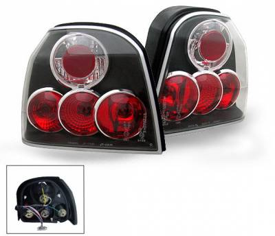 Headlights & Tail Lights - Led Tail Lights - 4CarOption - Volkswagen Golf 4CarOption Altezza Taillights - XT-TLZ-GOLF39297BK-6