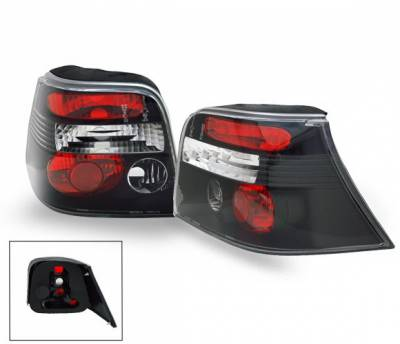 Headlights & Tail Lights - Led Tail Lights - 4CarOption - Volkswagen Golf 4CarOption Altezza Taillights - XT-TLZ-GOLF4BK-6