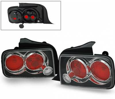 Headlights & Tail Lights - Led Tail Lights - 4CarOption - Ford Mustang 4CarOption Altezza Taillights - XT-TLZ-MST0506BK-6