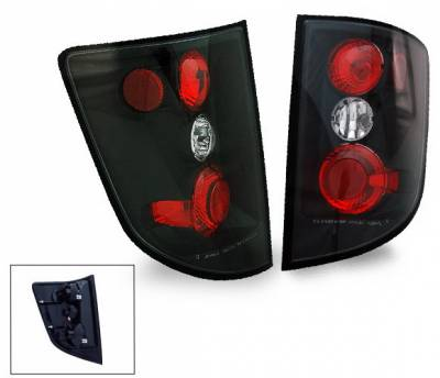 Headlights & Tail Lights - Tail Lights - 4CarOption - Honda Ridgeline 4CarOption Altezza Taillights - XT-TLZ-RGL0506BK-6