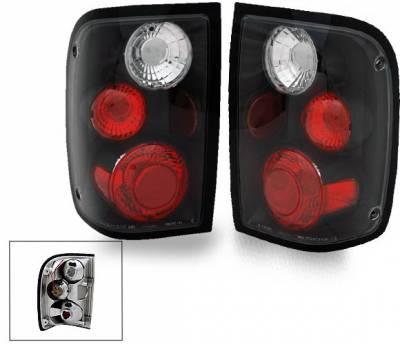 Headlights & Tail Lights - LED Tail Lights - 4CarOption - Ford Ranger 4CarOption Altezza Taillights - XT-TLZ-RGR0104BK-6