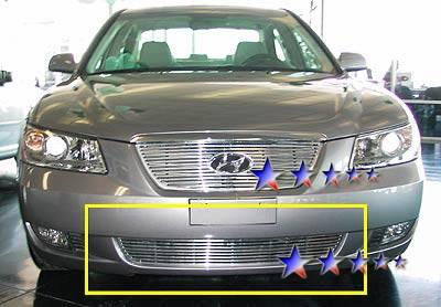 Grilles - Custom Fit Grilles - APS - Hyundai Sonata APS Billet Grille - Bumper - Aluminum - Y66453A