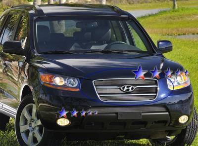 Grilles - Custom Fit Grilles - APS - Hyundai Santa Fe APS Billet Grille - Upper - Aluminum - Y67213A