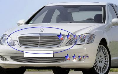Grilles - Custom Fit Grilles - APS - Mercedes-Benz S Class APS Billet Grille - Upper - Aluminum - Z66596A