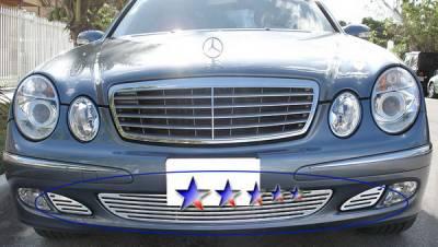 Grilles - Custom Fit Grilles - APS - Mercedes-Benz E Class APS CNC Grille - Bumper - Aluminum - Z95518A
