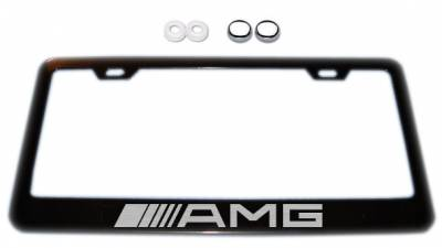 Accessories - License Plate Frames - AMG - AMG Black Plate Frame