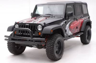 Accessories - License Plate Frames - Aries - Jeep Wrangler Aries Tubular Bumper - Front - 3 Inch