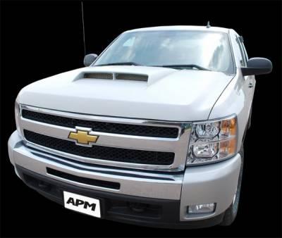 Silverado - Hoods - APM - Chevrolet Silverado APM Ram Air Functional Aggressive Hood