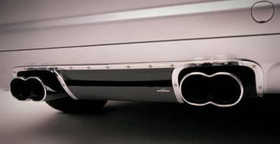 3 Series 2Dr - Rear Lip - AC Schnitzer - Rear Diffusor, Black Carbon Fiber w. rear muffler