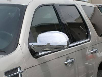 Escalade - Mirrors - Aries - Cadillac Escalade Aries Chrome Mirror Covers