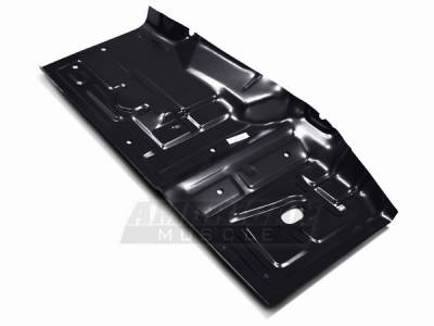 Car Interior - Floor Panels - AM Custom - Ford Mustang Fox Body Floor Pan