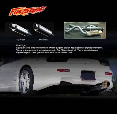 Exhaust - 5Zigen - 5Zigen - Fire Catback Exhaust