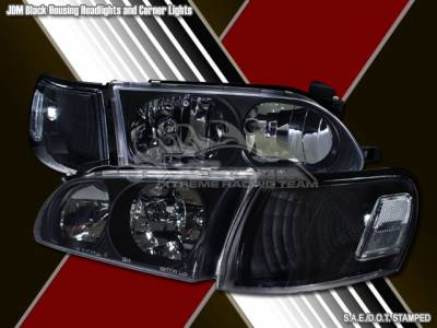 Headlights & Tail Lights - Headlights - Custom - JDM Black Headlights - Signal