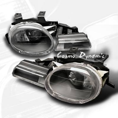 Headlights & Tail Lights - Headlights - Custom - Black Pro Headlights With Signals