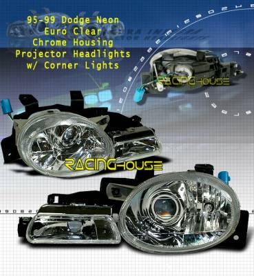 Headlights & Tail Lights - Headlights - Custom - Euro Chrome Clear Headlights With Signals
