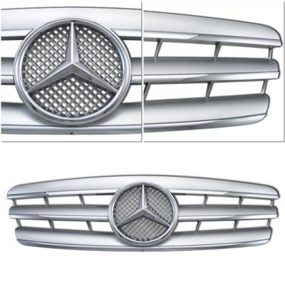 Grilles - Custom Fit Grilles - Custom - W203 C Class Grille - Silver