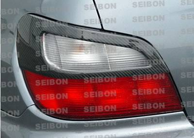 Headlights & Tail Lights - Tail Light Covers - Seibon - Subaru WRX Seibon Carbon Fiber Taillight Cover - TC0203SBIMP-TA