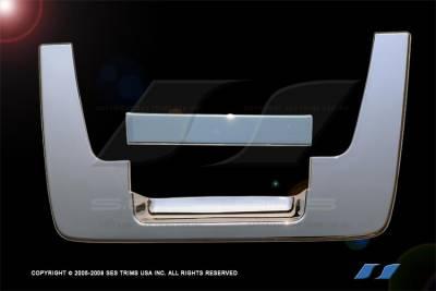 Suv Truck Accessories - Chrome Billet Door Handles - SES Trim - Nissan Titan SES Trim ABS Chrome Tailgate Handle - TG102
