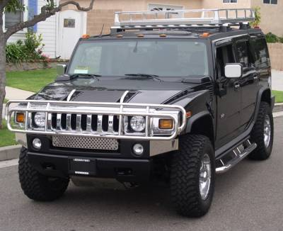 Grilles - Grille Guard - Aries - Hummer H2 Aries Grille Guard - 1PC
